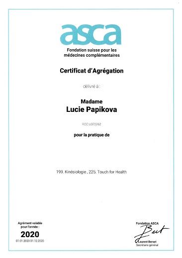 affiliation ASCA kinésiologie