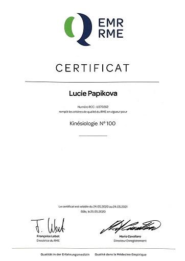 RME affiliation kinésiologie
