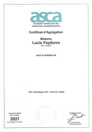 affiliation ASCA 2021 kinésiologie